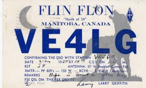 FLIN FLON , Manitoba , Canada , PU-1952; QSL Postcard