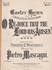 O Rejoice That The Lord Has Arisen Easter Song Olde Christian Sheet Music