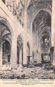 Eglise St Gervais Bombardee par Canons le Vendredid Saint, March 29, 1918 Fra...