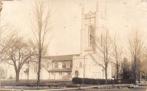 D46/ Northfield Minnesota Mn RPPC Postcard c1920s New Chapel Carlton College