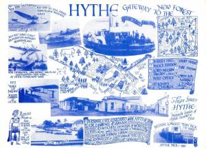 Postcard HYTHE, Map Gateway to the New Forest, Kent F61