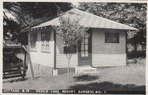 RP: BARABOO , Wis. , 1930-40s ; Cottage #16 , Devils Lake Resort