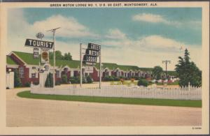 MONTGOMERY AL - GREEN MOTOR TOURIST LODGE , located on U.S. 80 EAST, 1940s view