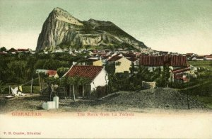 Gibraltar, The Rock from La Pedrera (1899) V.B. Cumbo Postcard