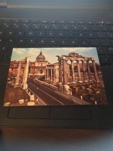 Vtg Postcard: Rome Roma Italy-  Forum Romaine, Capitol in back