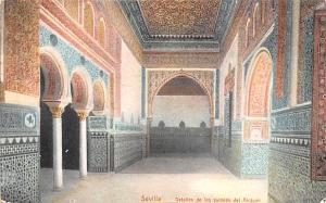 Spain Old Vintage Antique Post Card Detalles de los ssalones del Alcazar Sevi...