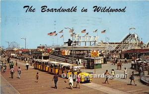 Wildwood, New Jersey, NJ, USA Postcard The Boardwalk and Amusements 1977