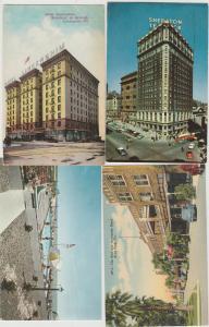 Lot of 4 hotel motel vintage postcards sheraton los angeles avon  park