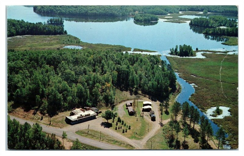 1960s/70s Dick-Sy Manor on Upper Twin of Tiger Cat Flowage, Hayward, WI Postcard