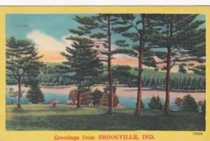 Indiana Greetings From Brookville 1955