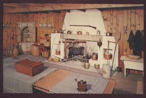 Hershey Museum Pennsylvania German Kitchen Interior Fireplace Dutch Postcard