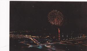 Fireworks display , Rive-cade Celebration , Sioux City , Iowa , 40-60s