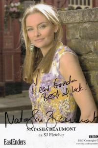 Natasha Beamont as SJ Fletcher in BBC Eastenders RARE Hand Signed Photo
