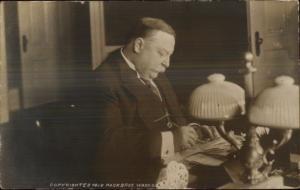 US President William Taft at Desk 1912 Real Photo Postcard dcn
