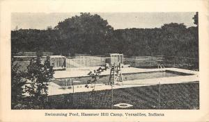 Versailles Indiana~Swimming Pool~Hassmer Hill Camp~1930s B&W Postcard