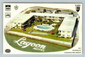 Clearwater Beach FL- Florida, Lagoon Apartment and Motel, Chrome Postcard