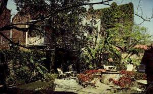Courtyard of Maison de Ville Hotel New Orleans LA 1969