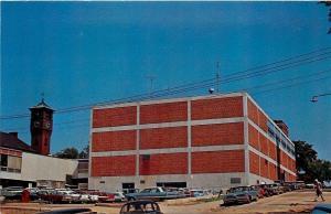 Menomonie WI Frykland Hall near Clock Tower~Not Very Many Windows~1960s Postcard