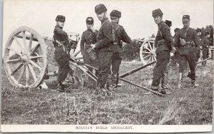 Belgian Field Artillery Soldiers Military Ward Lock & Co Litho Postcard G61