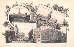 Scotland, UK Old Vintage Antique Post Card University, King's Theatre Gl...