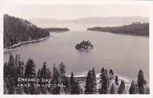 California Lake Tahoe Emerald Bay Real Photo RPPC