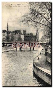 Old Postcard Paris Pont Neuf and Cite