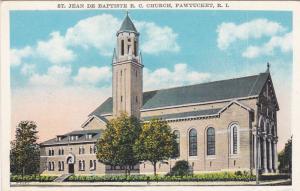 PAWTUCKET , Rhode Island, 1910s; St. Jean De Baptiste Roman Catholic Church