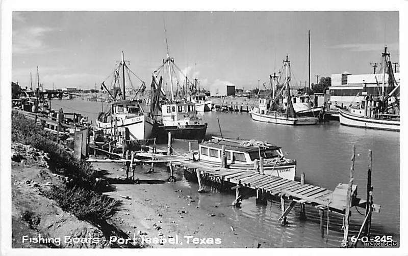 1940 39 s port isabel texas fishing boats postcard 9688 for Port isabel fishing