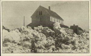 Lewiston NY 1909 Niagara Ice Jam Postcard #3