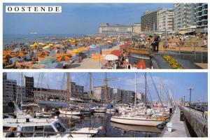 Limited Edition Belgium Postcard Oostende, Promenade, Mercatordok L4