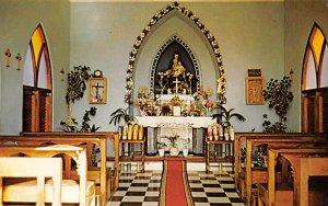 Aruba Post card Old Vintage Antique Postcard Alta Vista Chapel, Interior Unused