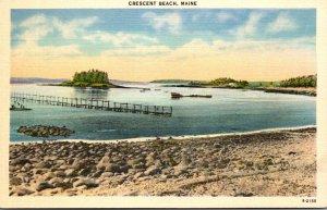 Maine Crescent Beach Shore View