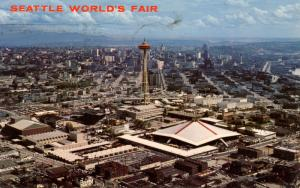 WA - Seattle, 1962. Seattle World's Fair (Century 21 Exposition). Aerial View