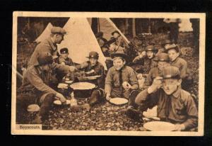 046406 Boyscouts Dinner in CAMP Vintage phototype PC