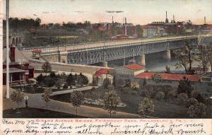 Girard Ave. Bridge, Philadelphia, Pennsylvania, Early Postcard, Used in 1906