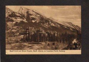 AB Banff Hotel Mount Rundle Alberta Canada Carte Postale Postcard Railway