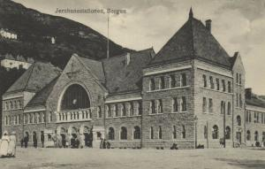 norway norge, BERGEN, Jernbanestationen, Railway Station (1910s) Mittet & Co.