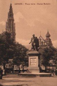 Place Verte,Statue Rubens,Antwerp,Belgium BIN