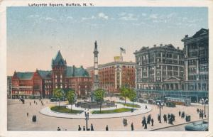 Buffalo NY New York Lafayette Square Soldiers and Sailors Monument pm 1921 - WB