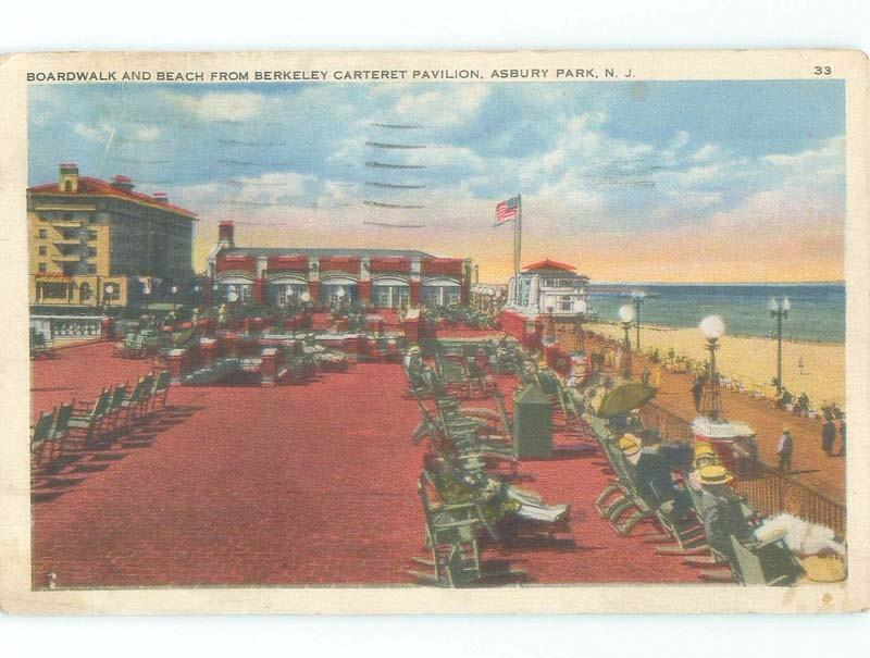 Linen CHAIRS ON BOARDWALK AT THE BEACH Asbury Park New Jersey NJ d8170