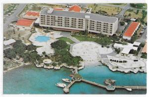 Hilton Hotel Willemstad Curacao Aerial View Caribbean 70's Vintage Postcard