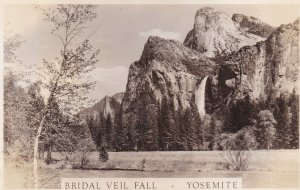 California Yosemite Bridal Veil Fall Real Photo