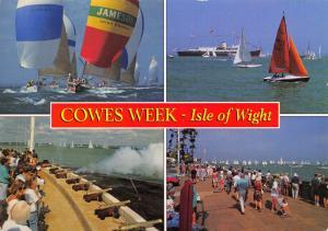 Postcard Cowes Week Isle of Wight, Multi View by J. Salmon Ltd N30