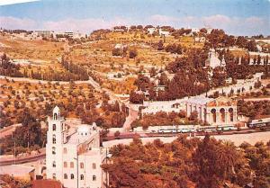 Israel Jerusalem Mount of Olives Busses General view