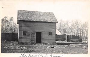 Real Photo Postcard~The Dandy New Red Barn~Old Log One~Chicken Coop~Pig Pen~1908