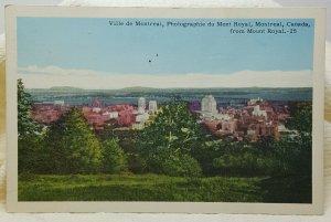 Ville de Montreal 1956 Canada Vintage Postcard