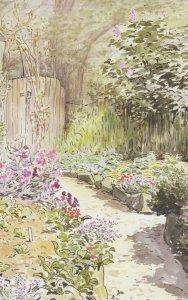 Beatrix Potter The Garden Of Harescombe Grange Painting Postcard