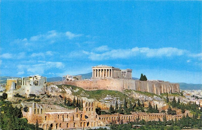 Official Greece Olympic Airways Postcard, The Acropolis, Athens N62