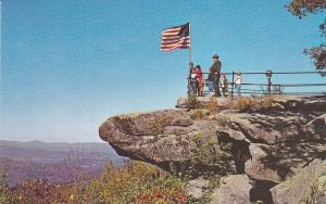 Jump Off Rock overlooking French Broad River Valley,   Hendersonville,  North...