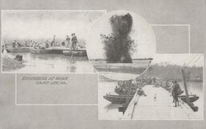 CAMP LEE, Virginia, 1910-20s; Engineers at Work, 3-views